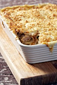 Cannelloni with pork sausage and goat's cheese