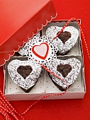 Chocolate hearts to give as a gift