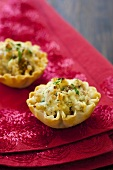 Ricotta and figs in filo pastry shells