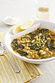 Bean soup with Swiss chard