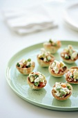 Goat's cheese and smoked salmon tartlets