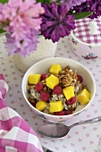Muesli with fruit for Mother's Day