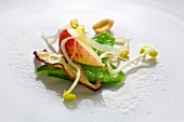 Sprout, apple and mangetout salad