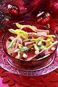 Chicory and fruit salad (Christmas)