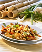 Bami Goreng with strips of soya