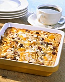 Sweet pasta bake with beaten egg white