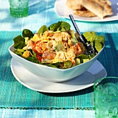 Fruity seafood salad with curry sauce