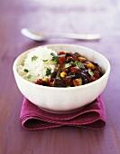 Rice with vegetarian chili