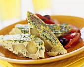 Spanish egg and potato tortilla