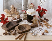 Ingredients for baking gingerbread