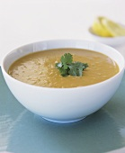 Spicy kumara and coconut soup (sweet potato)
