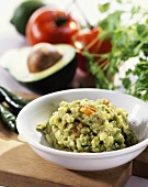 Avocado dip (to accompany barbecued food)