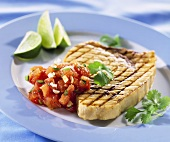 Sword fish fillet with tomato salsa