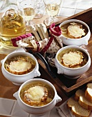 French onion soup (with cheese croutes)