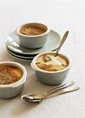 Crème brûlée with nectarines