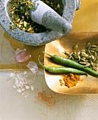 Making herb paste