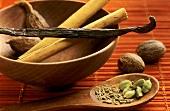 Sweet spices (cinnamon, cardamom, vanilla)