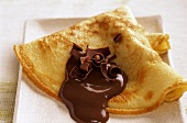 Crêpes with Amaretto and chocolate
