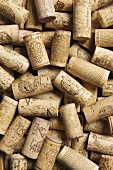 Lots of different wine corks