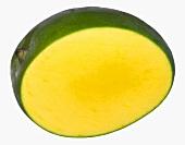 Mango with a piece cut off