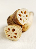Pieces of lotus root