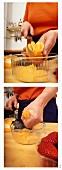 Dividing oranges into segments