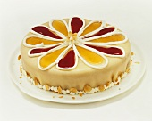 Decorated marzipan cake