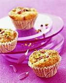 Pistachio and cranberry muffins