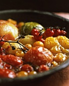 Various sorts of tomatoes baked in the oven