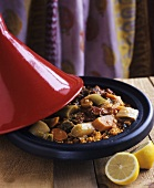 Tajine with vegetables and couscous