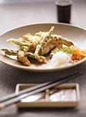 Asian vegetables in batter
