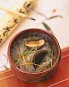 Japanese rice noodle soup