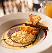Chick-pea puree with olive oil and toasted white bread