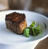 Roast beef fillet on a plate