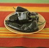 Chilischoten der Sorte Pasilla