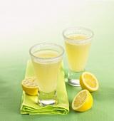Lemon cocktail with lemon sorbet and gin