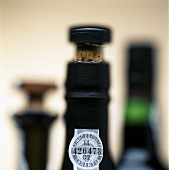 Neck of a port bottle