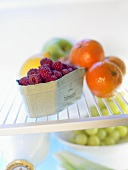 Assorted fruit in fridge