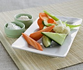 Raw vegetables for dipping