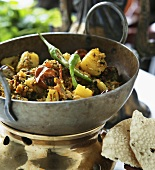 Indian pan-cooked potato dish