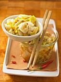 Kim chi (pickled Chinese cabbage, Korea)