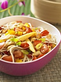 Rice noodle salad with vegetables (Thailand)