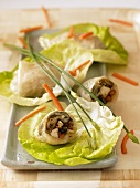 Rice paper rolls with cod and vegetable filling (Vietnam)