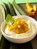 Mango cream with pieces of mango (Vietnam)