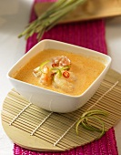 Coconut milk soup with shrimps and chili (Thailand)