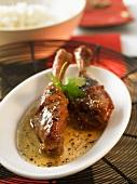 Duck legs in plum sauce (China)