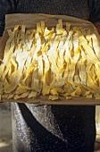 Fresh ribbon pasta