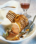Rack of lamb with mustard and herb crust