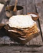 Crispy flatbreads with chocolate cream
