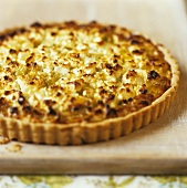 Goat's cheese and leek tart